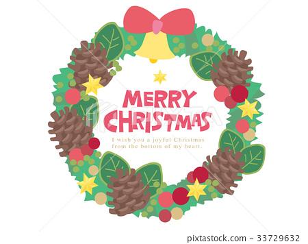 Christmas wreath illustration 33729632