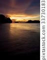 Beach sunset at Bako national park Borneo 33730183