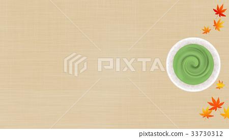 抹茶和楓葉背景(16:9) 33730312