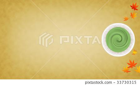 抹茶和楓葉背景(16:9) 33730315