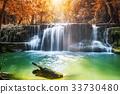 Waterfall autumn in rainforest 33730480