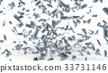 dollar banknote rain. 3d illustration. 33731146