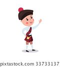 Little boy wearing traditional costume of Scotland 33733137