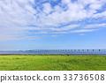 도쿄만 아쿠아라인, 푸른 하늘, 파란 하늘 33736508
