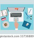 desk, office, laptop 33736889