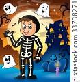 Boy in Halloween costume theme image 2 33738271