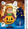 Halloween costume girl 33738278