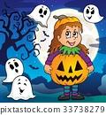 Halloween costume girl 33738279