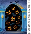 Wall alcove with Halloween topic 1 33738321