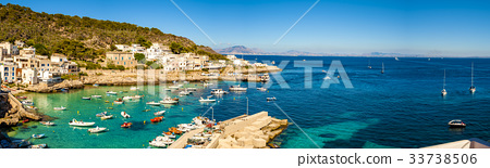 A veiw of port Levanzo Island, Sicily, Italy 33738506