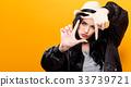 woman finger framing 33739721