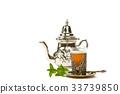 True Moroccan mint tea in the original cup 33739850
