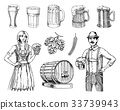 beer, vector, people 33739943