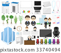 Office illustration set 33740494