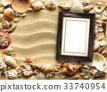 frame, background, shells 33740954
