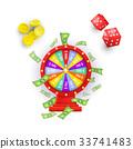 vector, casino, fortune 33741483