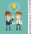 vector businessman handshake 33741669