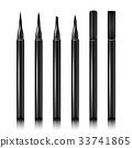 Set Cosmetic Makeup Eyeliner Pencil Vector 33741865