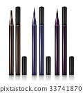 Set Cosmetic Makeup Eyeliner Pencil Vector. Modern 33741870
