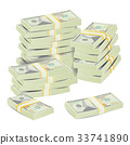 Money Stacks Vector. Realistic Concept 33741890