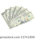 Dollars Banknote Stack Vector. American Money 33741899