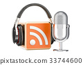 headphones, podcast, microphone 33744600