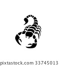 Scorpion icon in simple tattoo style,vector 33745013