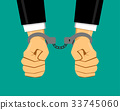 Businessman in handcuffs, vector 33745060