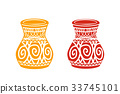 Ancient tribal pottery shop icon, vector 33745101