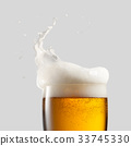 Close-up of cold beer with foam 33745330