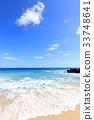 푸른, 하늘, 해변 33748641