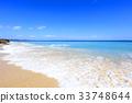 푸른, 하늘, 해변 33748644