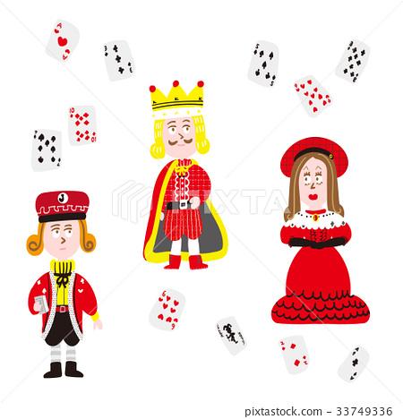 撲克牌 玩牌 國王 33749336