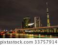 [ทิวทัศน์ยามค่ำคืนของโตเกียว] Tokyo Sky Tree Asakusa Sumida River 33757914