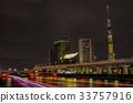 view ทิวทัศน์ยามค่ำคืนของโตเกียว】ธงโตเกียวสกายทรีอาซากุสะแม่น้ำ Sumida ประเทศบราซิล 33757916