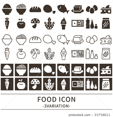 Food icon set 33758621