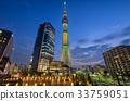 view วิวกลางคืนในโตเกียว】โตเกียวสกายทรีโอชิเอจที่จอดรถจักรยานธงบราซิล 33759051