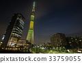 view วิวกลางคืนในโตเกียว】โตเกียวสกายทรีโอชิเอจที่จอดรถจักรยานธงบราซิล 33759055