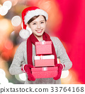 beauty woman with christmas 33764168