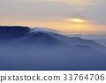 산, 실루엣, 운해 33764706