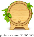 wooden barrel beer 33765663