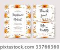 Wedding invite thank you card vector watercolor 33766360