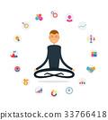 Businessman present business icons.Businessman 33766418