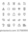 Mini Icon set - traffic icon vector illustration 33768990