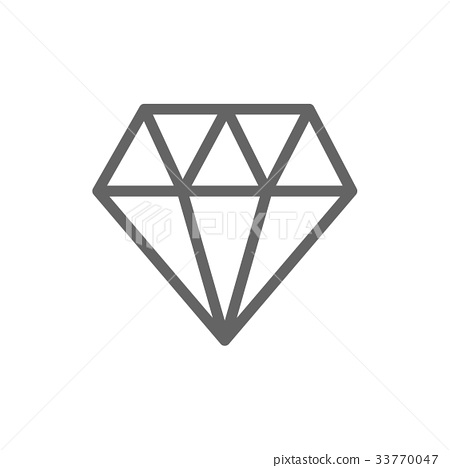 Simple Diamond Line Icon Symbol And Sign Vector Stock