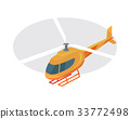 Helicopter Vector Icon in Isometric Projection 33772498