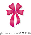 laret-Colored Bow Isolated. Vinaceous Bowknot. 33773119