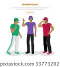 Football Coaches Web Banner Cartoon Soccer Referee 33773202