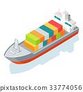 cargo ship shipping 33774056