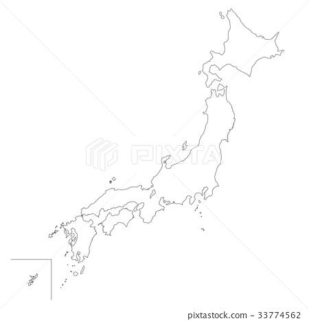 일본지도 백지도 33774562